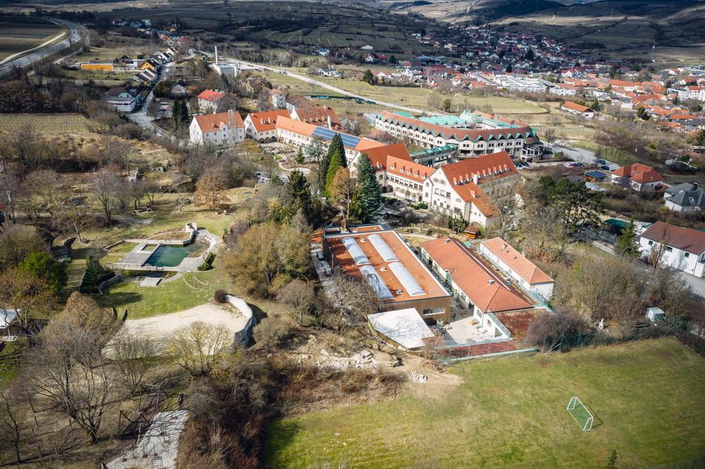 Schulgebäude pixel